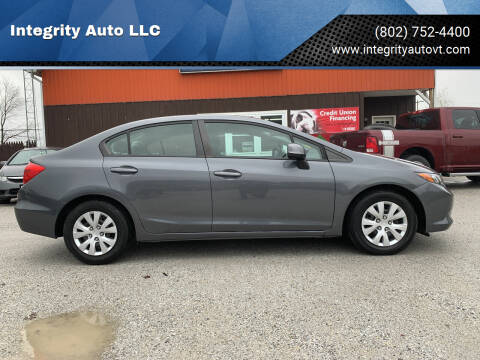 2012 Honda Civic for sale at Integrity Auto LLC in Sheldon VT