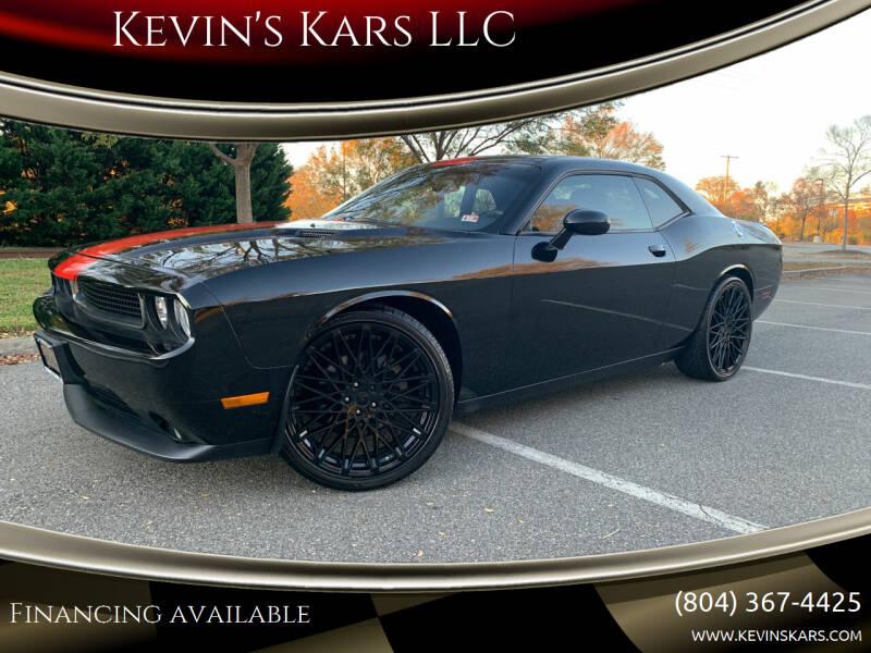 2013 Dodge Challenger for sale at Kevin's Kars LLC in Richmond VA