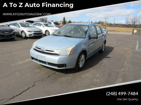 2008 Ford Focus for sale at A to Z Auto Financing in Waterford MI