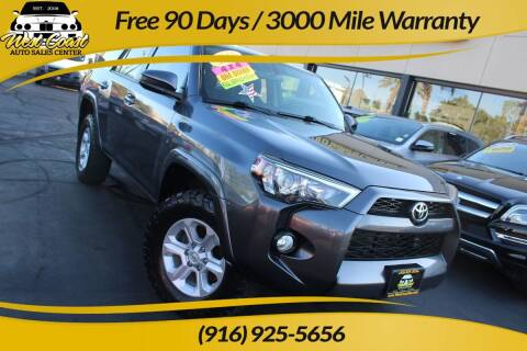 2016 Toyota 4Runner for sale at West Coast Auto Sales Center in Sacramento CA