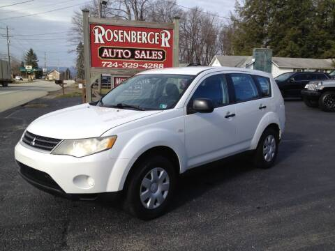 2007 Mitsubishi Outlander for sale at Rosenberger Auto Sales LLC in Markleysburg PA