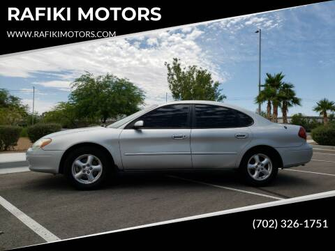 2002 Ford Taurus for sale at RAFIKI MOTORS in Henderson NV