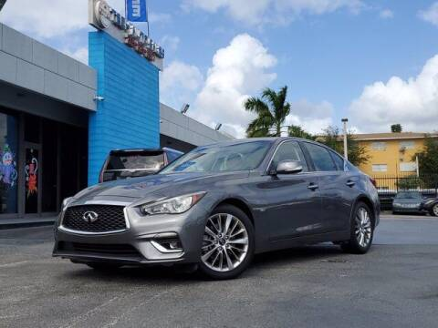 2020 Infiniti Q50 for sale at Tech Auto Sales in Hialeah FL