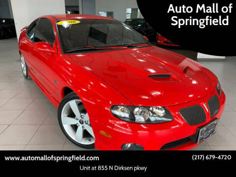 2006 Pontiac GTO for sale at Auto Mall of Springfield north in Springfield IL