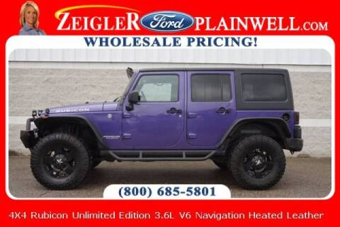2017 Jeep Wrangler Unlimited for sale at Zeigler Ford of Plainwell- michael davis in Plainwell MI