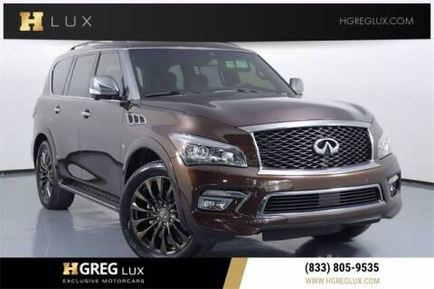 2017 Infiniti QX80 for sale at HGREG LUX EXCLUSIVE MOTORCARS in Pompano Beach FL