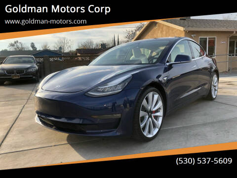 2018 Tesla Model 3 for sale at Goldman Motors Corp in Stockton CA