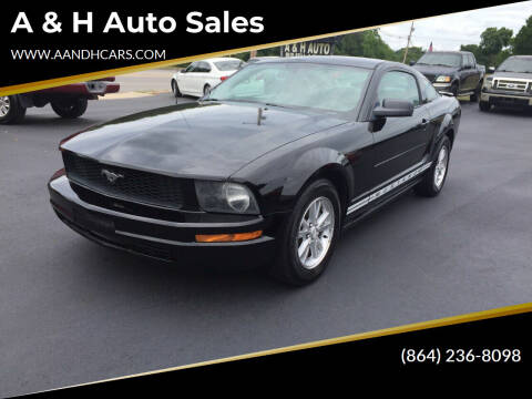 2008 Ford Mustang for sale at A & H Auto Sales in Greenville SC