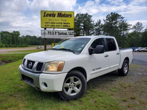 2006 Nissan Titan for sale at Lewis Motors LLC in Deridder LA