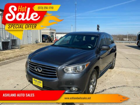 2013 Infiniti JX35 for sale at ASHLAND AUTO SALES in Columbia MO