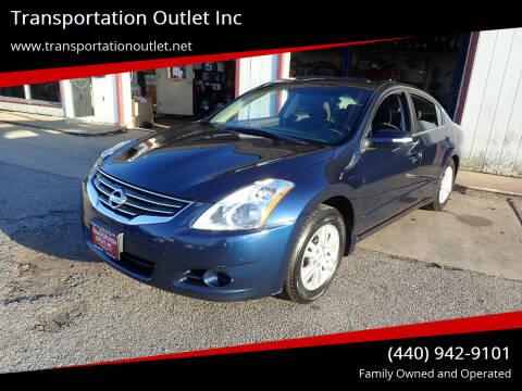 2010 Nissan Altima for sale at Transportation Outlet Inc in Eastlake OH