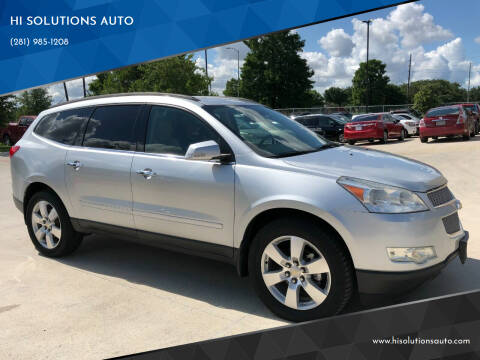 2012 Chevrolet Traverse for sale at HI SOLUTIONS AUTO in Houston TX