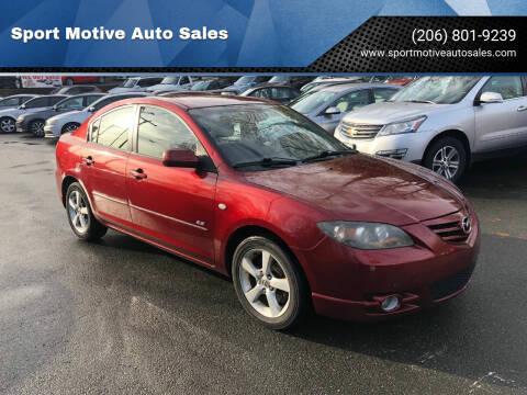 2006 Mazda MAZDA3 for sale at Sport Motive Auto Sales in Seattle WA