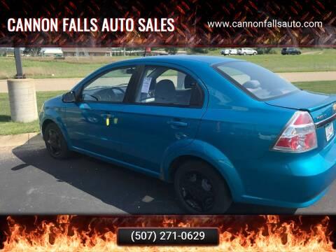 2009 Chevrolet Aveo for sale at Cannon Falls Auto Sales in Cannon Falls MN