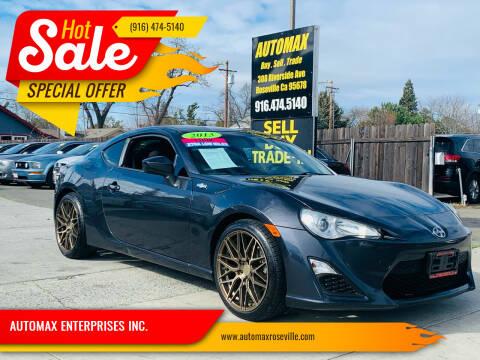 2013 Scion FR-S for sale at AUTOMAX ENTERPRISES INC. in Roseville CA