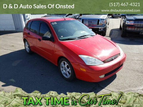 2003 Ford Focus for sale at D & D Auto Sales Of Onsted in Onsted   Brooklyn MI