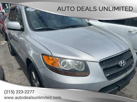 2007 Hyundai Santa Fe for sale at AUTO DEALS UNLIMITED in Philadelphia PA