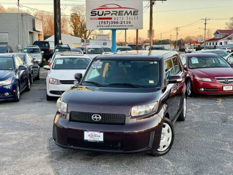 2008 Scion xB for sale at Supreme Auto Sales in Chesapeake VA