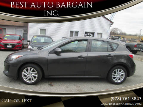 2012 Mazda MAZDA3 for sale at BEST AUTO BARGAIN inc. in Lowell MA