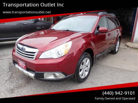 2012 Subaru Outback for sale at Transportation Outlet Inc in Eastlake OH