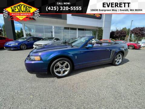 2004 Ford Mustang SVT Cobra for sale at West Coast Auto Works in Edmonds WA