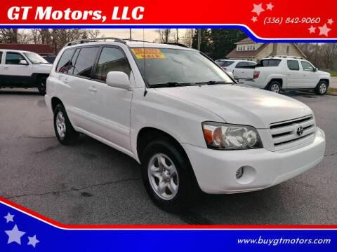 2006 Toyota Highlander for sale at GT Motors, LLC in Elkin NC