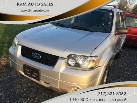 2006 Ford Escape Hybrid for sale at Ram Auto Sales in Gettysburg PA