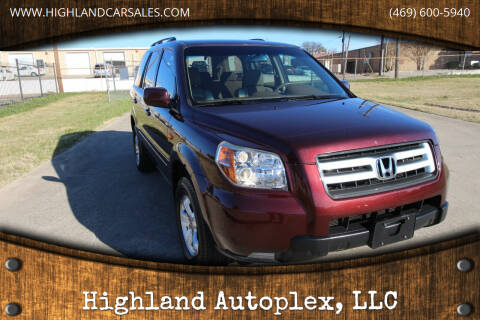 2008 Honda Pilot for sale at Highland Autoplex, LLC in Dallas TX