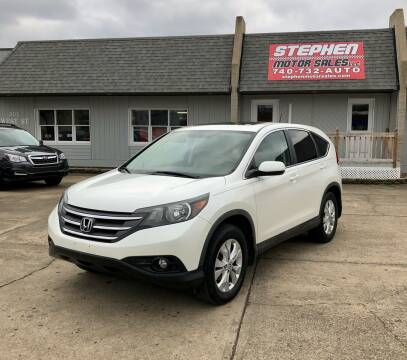 2012 Honda CR-V for sale at Stephen Motor Sales LLC in Caldwell OH