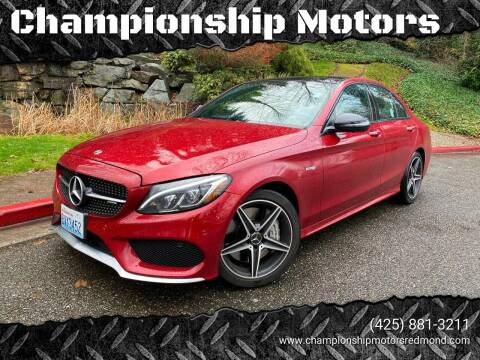 2018 Mercedes-Benz C-Class for sale at Mudarri Motorsports - Championship Motors in Redmond WA