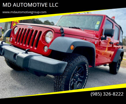 2016 Jeep Wrangler Unlimited for sale at MD AUTOMOTIVE LLC in Slidell LA