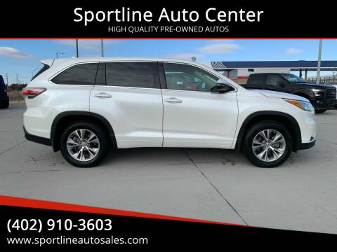 2015 Toyota Highlander for sale at Sportline Auto Center in Columbus NE
