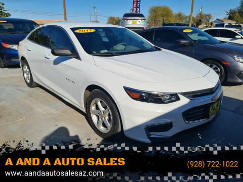 2017 Chevrolet Malibu for sale at A AND A AUTO SALES in Gadsden AZ