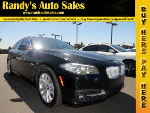 2016 BMW 5 Series for sale at Randy's Auto Sales in Ontario CA