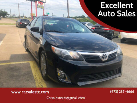 2013 Toyota Camry for sale at Excellent Auto Sales in Grand Prairie TX
