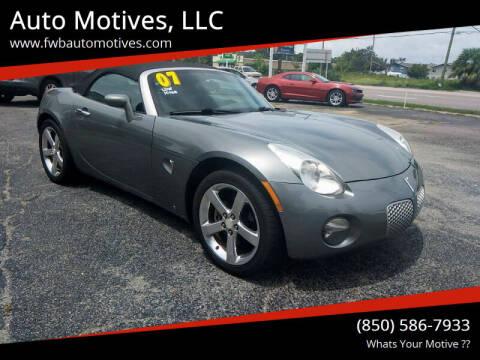 2007 Pontiac Solstice for sale at Auto Motives, LLC in Fort Walton Beach FL