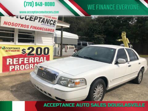 2007 Mercury Grand Marquis for sale at Acceptance Auto Sales Douglasville in Douglasville GA
