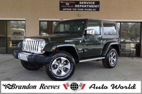 2010 Jeep Wrangler for sale at Brandon Reeves Auto World in Monroe NC