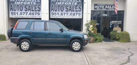 1998 Honda CR-V for sale at Affordable Imports Auto Sales in Murrieta CA
