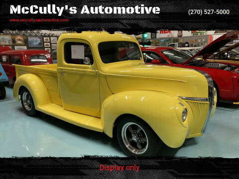 1941 Ford F-100 for sale at McCully's Automotive in Benton KY