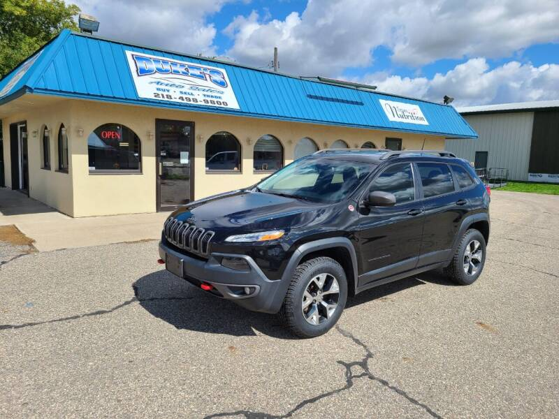 2016 Jeep Cherokee for sale at Dukes Auto Sales in Glyndon MN