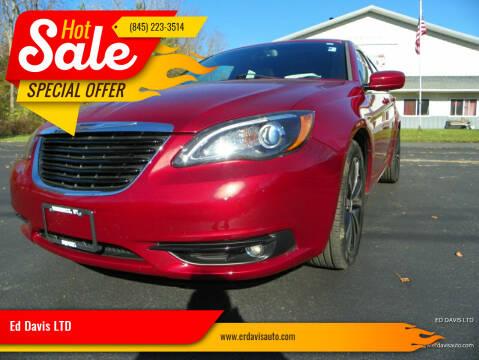 2014 Chrysler 200 for sale at Ed Davis LTD in Poughquag NY