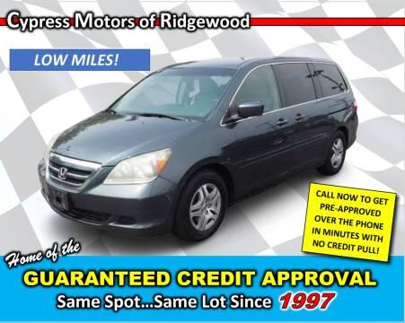 2006 Honda Odyssey for sale at Cypress Motors of Ridgewood in Ridgewood NY