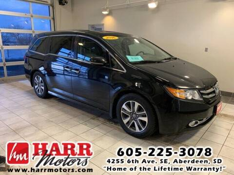 2016 Honda Odyssey for sale at Harr Motors Bargain Center in Aberdeen SD