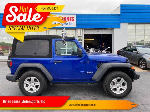2019 Jeep Wrangler for sale at Brian Jones Motorsports Inc in Danville VA