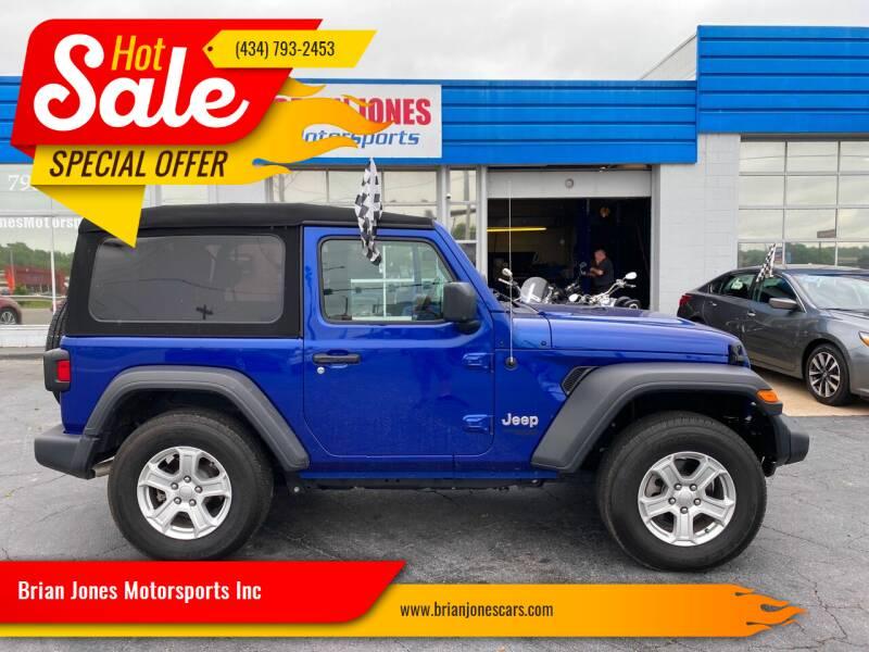2019 Jeep Wrangler for sale at Brian Jones Motorsports Inc in Danville VA
