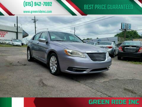 2014 Chrysler 200 for sale at Green Ride Inc in Nashville TN