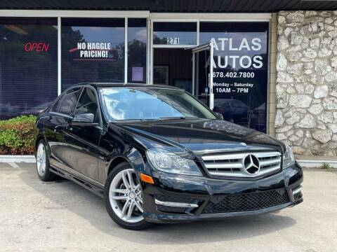 2012 Mercedes-Benz C-Class for sale at ATLAS AUTOS in Marietta GA