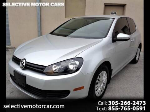 2013 Volkswagen Golf for sale at Selective Motor Cars in Miami FL