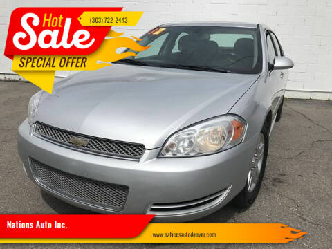 2012 Chevrolet Impala for sale at Nations Auto Inc. in Denver CO